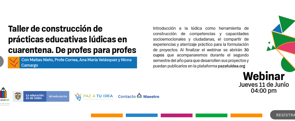 Exitosa participación tuvieron  profesionales de Fundación Semilla en Webinar organizado por EducaPAZ de Colombia.